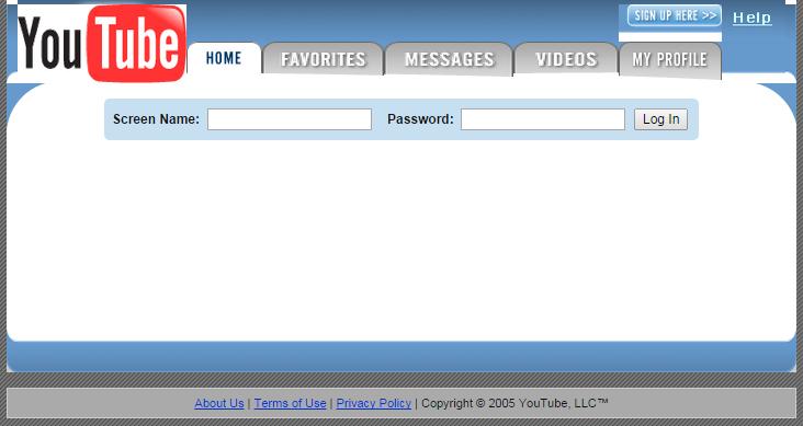 2005年当時のYouTubeはこんなトップページだった!